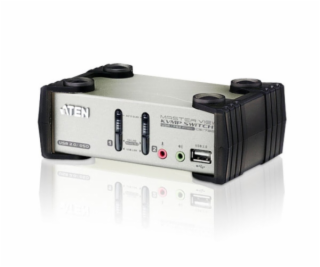 ATEN CS1732A 2-Port USB KVMP Switch, 2x USB KVM Cables, 2...
