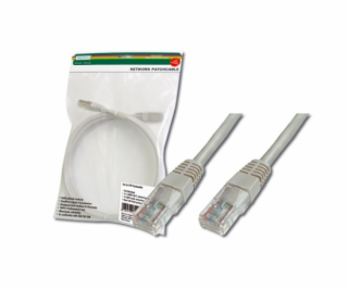 Digitus Patch Cable, UTP, CAT 5e, AWG 26/7, šedý 3m