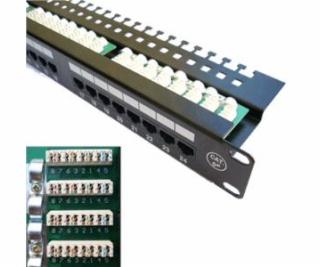 "Patch panel 24x RJ-45, Cat 5e UTP, 19 ""s vyviazaním"