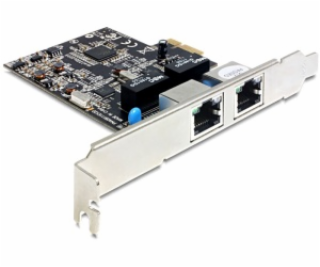 DeLock PCI Express 2x Gigabit LAN + low profile