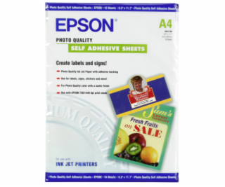 Epson Photo Quality Inkjet Paper A4, 10 sh.,167g selfadh....