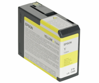 Epson ink cartridge yellow T 580  80 ml              T 5804