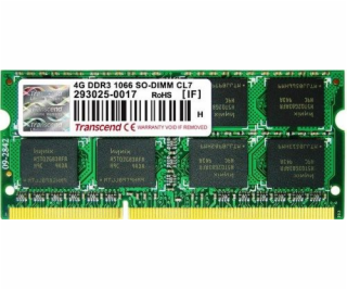 Transcend DDR3 4GB 1066MHz CL7 SO-DIMM