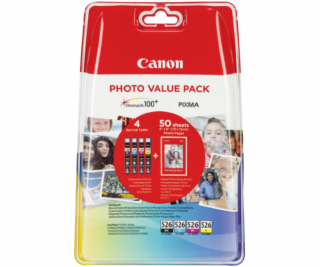 Canon CLI-526 Photo Value Pack C/M/Y/BK PP-201 10x15 cm 5...