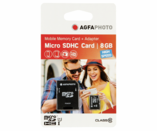 AgfaPhoto Mobile High Speed  8GB MicroSDHC Class 10 (+ ad...
