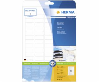 Herma Label           35,6x16,9 25 Sheets DIN A4 2000 pcs...