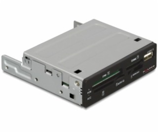 "DeLock multipanel 3,5 ""USB2.0 43in1 5xSlot + USB, čierna"
