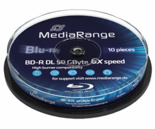 MEDIARANGE BD-R BLU-RAY 50GB 6x DoubleLayer PRINTABLE spi...