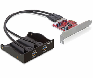 "Delock 3.5 ""predný panel s 2x USB 3.0 porty + PCI Express..."