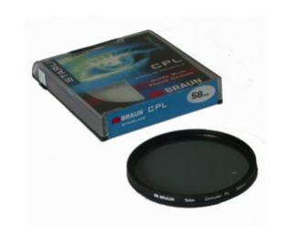 BRAUN C-PL polarizačný filter Starline - 72 mm