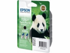 Epson ink cartridge black twin pack  T 050          T 0501