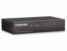 INTELLINET Switch  5port 10/100/ Mbps,hliníkový