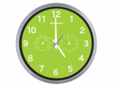 Bresser MyTime Thermo-/ Hygro- Wall Clock 25cm - green