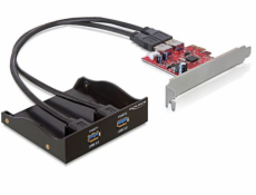 "Delock 3.5 ""predný panel s 2x USB 3.0 porty + PCI Express adaptér"
